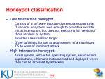 honeypot classification