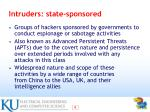intruders state sponsored