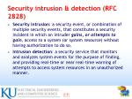security intrusion detection rfc 2828