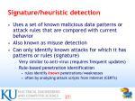signature heuristic detection