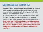 social dialogue in brief 2