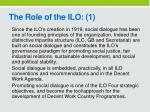 the role of the ilo 1