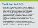 the role of the ilo 2