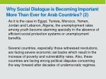 why social d ialogue is becoming i mportant m ore t han e ver for arab countries 2