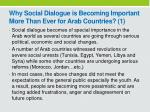 why social dialogue is becoming important more than ever for arab countries 1