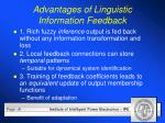 advantages of linguistic information feedback