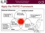 apply the rapid framework