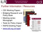 further information resources