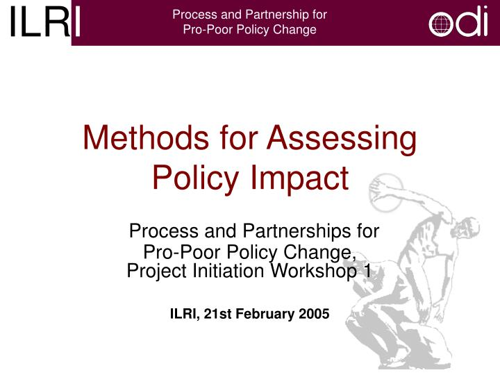 methods for assessing policy impact n.