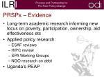 prsps evidence