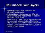 dod model four layers