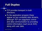 full duplex