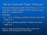 binary indexed trees intervals