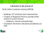 libraries to be proud of