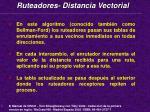 ruteadores distancia vectorial