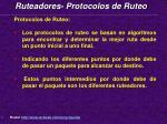 ruteadores protocolos de ruteo