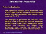 ruteadores protocolos