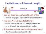 limitations on ethernet length