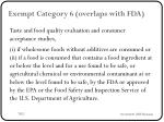 exempt category 6 overlaps with fda