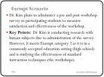 exempt scenario