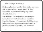 not exempt scenario1