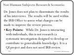 not human subjects research scenario1