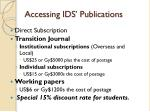 accessing ids publications