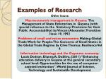 examples of research3