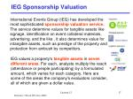 ieg sponsorship valuation