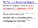 the purpose of sponsorship blueprint1