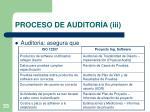 proceso de auditor a iii