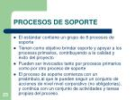 procesos de soporte