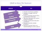 shift in how we instruct