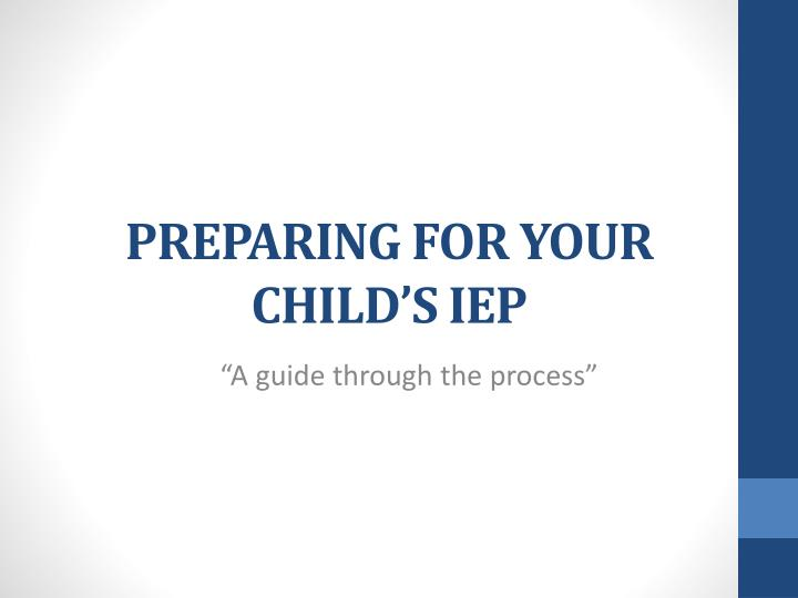 preparing for your child s iep n.