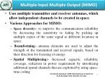 multiple input multiple output mimo