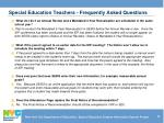 special education teachers frequently asked questions