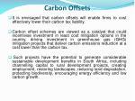 carbon offsets
