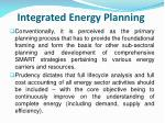integrated energy planning