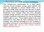 transition to a low carbon economy
