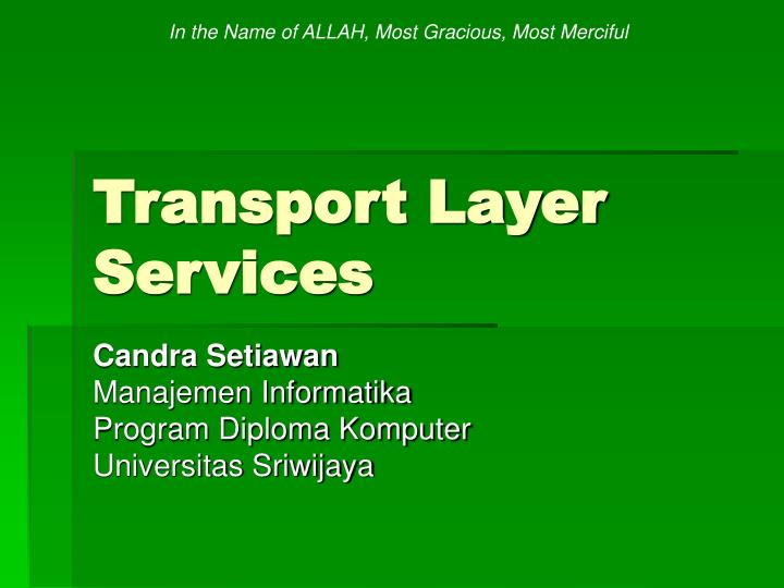 transport layer services n.