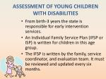assessment of young children with disabilities3
