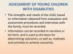 assessment of young children with disabilities5