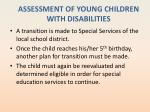 assessment of young children with disabilities7