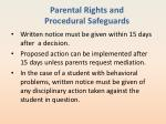 parental rights and procedural safeguards5