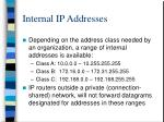 internal ip addresses