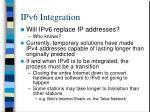 ipv6 integration