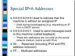 special ipv6 addresses