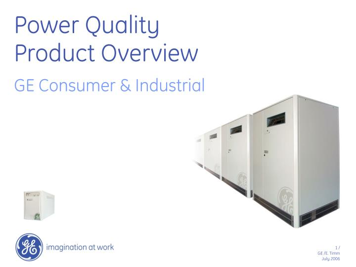 power quality product overview n.