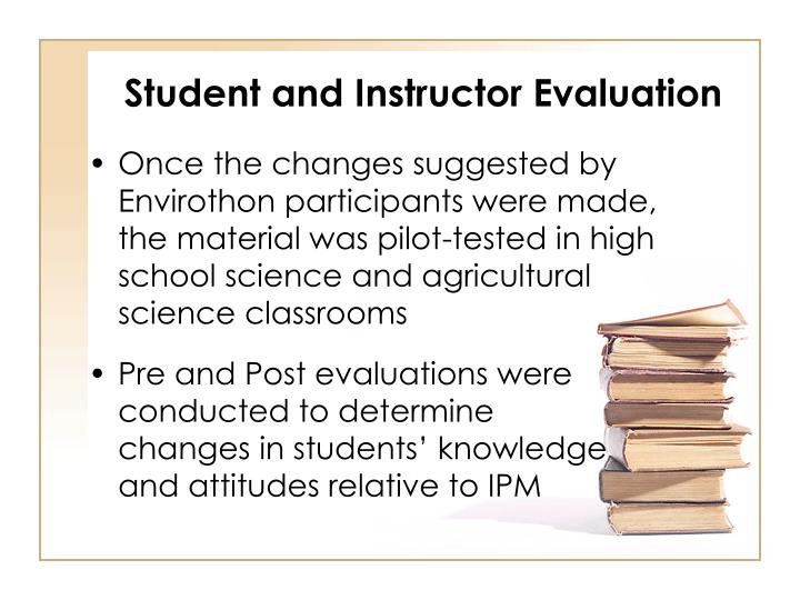Student and Instructor Evaluation