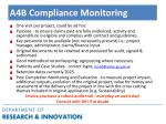 a4b compliance monitoring